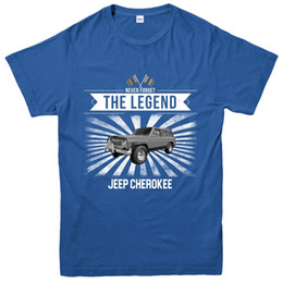 Wholesale Jeep Cherokee T Shirt Never Forgot The Legends Cars Design Tee TopFunny Unisex Casual tee gift