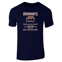 wig cotton NZ - Solid Color Men'S Morrie'S Wig Shop O-Neck Cotton Short Sleeve Shirts
