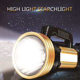high lumen rechargeable flashlights NZ - 20000 Lumen Handheld Spotlight Portable USB Built-in Rechargeable LED Searchlight Lantern Flashlight Waterproof Spot lamp