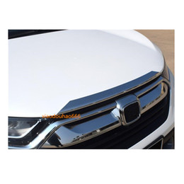 Chrome Engines Australia - Car styling body cover Bumper engine ABS Chrome trim Front Grid Grill Grille moulding edge 1pcs For Honda CRV CR-V 2017 2018