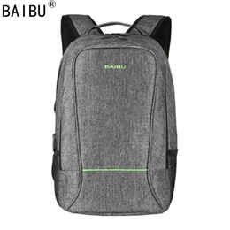 Laptop satcheL women online shopping - BAIBU Men design Anti theft USB Charging Travel Backpack Men Women school bag Large quot Laptop bag with Combination Lock
