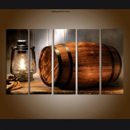 $enCountryForm.capitalKeyWord NZ - Large Modern Contemporary Abstract Western Art Wine barrel Painting Print Canvas Art Wall Home Decor 5 Piece picture for Living Room Decor