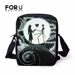 FORUDESIGNS Punk Skull Girls Boys School Bags Kids Book Bag Shoulder Bags  Small Schoolbags for Children Kid s Christmas Gifts f2788571261ee