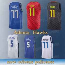 Hawks sale online shopping - Atlanta Hawks Trae Young Luka Doncic Mohamed Bamba High quality Free shopping Hot sale new Basketball jersey