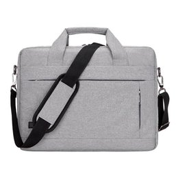 briefcases men UK - Fashion Laptop Briefcase Male Men Bag Satchel Laptop Computer Briefcase Female Messenger Bag For Men Office Documents Tote Bags