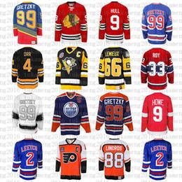 99 Wayne Gretzky 66 Mario Lemieux 9 Eishockey-Trikot von Bobby Hull 9 Gordie Howe 4 Bobby Orr 33 Patrick Roy 88 Eric Lindros Leetch Messier CHEAP