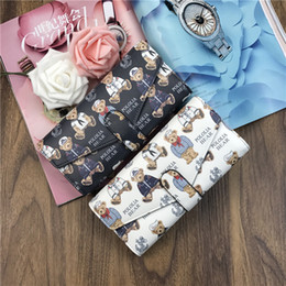 $enCountryForm.capitalKeyWord Canada - 30PCS Women Wallet 2017 Zipper Leather Bag Bear Character Printed Wallets Long Clutch Card Holder Purse
