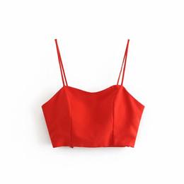 f16a15d28b8 2018 summer new wild slim back big bow tube top vest women