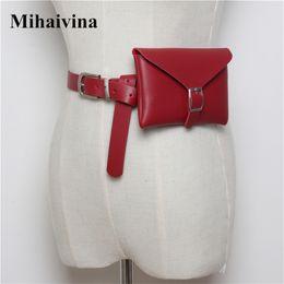 $enCountryForm.capitalKeyWord NZ - Mihaivina PU Leather Waist Bags Women Designer Fanny Pack Fashion Belt Bag Female Mini Waist Pack Messenger Bolsa New Coin Bag