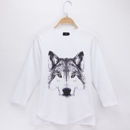 04597511d 2018 New Listing Kids Clothes Children T-shirt Animal Wolf 3D Print 100%  Cotton Child Shirt Boys Long Sleeve T Shirts Baby Girls Tops Tees