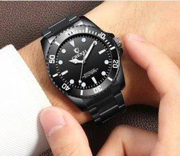 Ceinture en acier noire de qualité supérieure pour hommes de 30 mètres de la montre lumineuse de montre à quartz de montre décontractée Relogio Masc en Solde