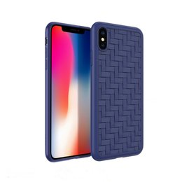 ThinnesT cell phone online shopping - Knit Leather Lines Cell Phone Case For Iphone X XR XS MAX Ultra thin TPU Fashion Back Cover