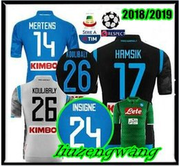 f8b646fd8 18 19 Napoli home away Soccer Jerseys 2019 Napoli  17 HAMSIK  14 MERTENS  24  INSIGNE Soccer Shirt Customized football uniform sales