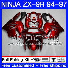 29 r NZ - Body For KAWASAKI NINJA ZX900 ZX 9R ALL Gloss red hot 1994 1995 1996 1997 221HM.29 ZX 9 R 900 900CC ZX-9R 94 97 ZX9R 94 95 96 97 Fairing kit