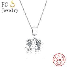 $enCountryForm.capitalKeyWord NZ - FC Jewelry 925 Sterling Silver Boy Girl Mix Zirconia Crystal Statement Necklaces & Pendants Chain Women Choker Trinket Collar