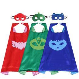 27 pulgadas traje pijama satén cabo con máscara de doble capa de velcro regalos de la fiesta del niño pequeño para los niños