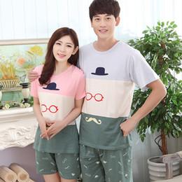 Summer Couples Sleepwear Women Pajamas Pijama hombre Masculino Cute Cartoon  Cotton Pajama Sets Pyjamas Men s Pajamas Homewear dc446acb2