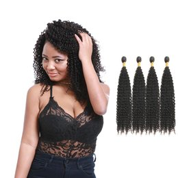 Curly Human Hair For Weaves Australia - Malaysian Curly Virgin Unprocessed Hair Weaves Grade 9A Kinky Curly Human Hairextensions 4 Bundles For Sale