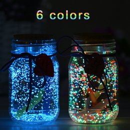 $enCountryForm.capitalKeyWord NZ - 6 Color 60g Luminous Party DIY Bright Glow in the Dark Paint Star Wishing Bottle Fluorescent Particles Color kids Flare Power