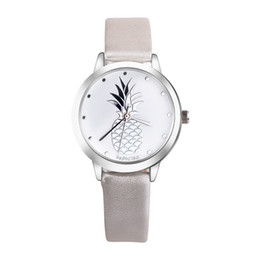 Discount stylish glasses for women - 2018 New Pineapple Faux Leather Watch Women Stylish Quartz Watch Bracelet Watches For Women Clock hour Relojes Mujer #D