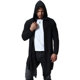 Trench Summer Chinese Style Linen Long Coat Mens Trench Coat Personality Retro Punk Wind Single-breasted Men Sunscreen Windbreaker Jackets & Coats