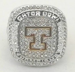 tennessee jewelry NZ - Newest Men fashion jewelry 2015 Tennessee volunteers championship ring alloy sports fans collection souvenirs Christmas gift