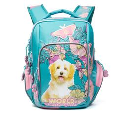 Chinese  Russia Style Children School Backpacks for Girls Cartoon Dogs Pattern Kid Bag Waterproof Orthopedic Backpack Primary School Bags manufacturers