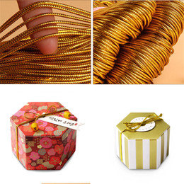 Pack Supplies Australia - 10meters High Quality Gold Elastic Rope Twine Ribbon Wedding Gift Packing Decoration Rope Handmade Craft String Party Supply