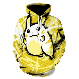 Pikachu Jacket Hoodie Zip Top Hoodies Sweatshirt Hottest Women's Clothing