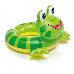 kids duck pool NZ - Baby Swimming Ring Inflatable Frog Penguin Duck Pool Float Baby Kids Summer Water Fun Pool Toy Child Swimming