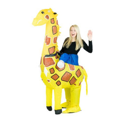 adult funny inflatable animal giraffe fancy dress costume outfit giraffe costume halloween purim stag blow up costume
