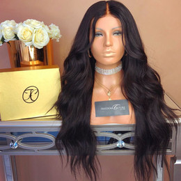 unprocessed full lace wigs prices UK - Lace Front Wig Natural color Loose Wave Brazilian Malaysian Virgin Human Hair Full Lace Wig Unprocessed Cheap Price For Selling