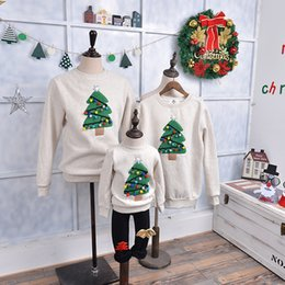 matching father daughter clothing 2019 - Christmas Sweater Shirt Family Clothes Reindeer Tree Deer New Year Matching Outfits Father Mother Son Daughter Mom Me Ki
