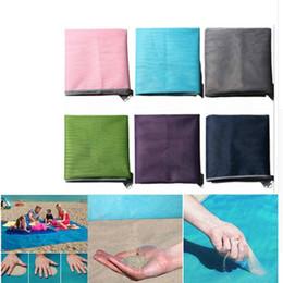 Moonbiffy Beach Camping Mat Azul / Verde / Rosa 200 * 150cm / 200 * 200cm Esteras de playa Sandbeach Mat alfombra al aire libre Picnic colchón Magic Pad en venta