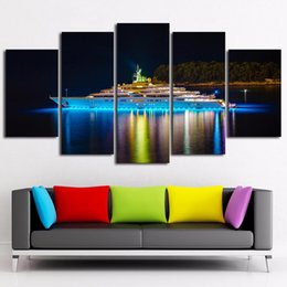 Piece Abstract Canvas Wall Prints Australia - Framework Canvas Home Decoration Wall Art Modular Pictures For Living Room Abstract Poster 5 Piece Cruise Ship Painting HD Printed