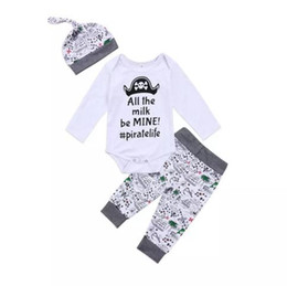 $enCountryForm.capitalKeyWord Canada - Newborn Baby Boys Clothing Toddler T-shirt+Pants+Hat 3PCS set Skull Heads Pirate Outfit Infant Boutique Casual Kids Costume Children Pajamas