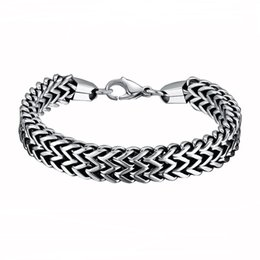Mens bracelets   Bangles 316L Stainless Steel Double Side Snake Chain Womens  Bracelet Jewelry Gift pulseira Drop Shipping d2b9879eb