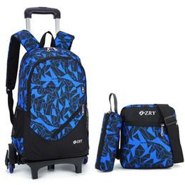 92637e4753eb ZIRANYU Backpack Новые съемные детские школьные сумки с 6 колесами Лестницы  Детские мальчики девочки Тележка Сумка Luggag Сумки