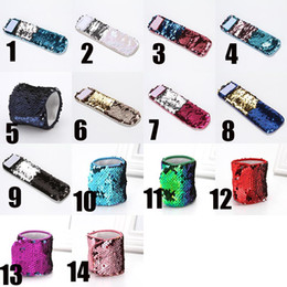 $enCountryForm.capitalKeyWord NZ - Mermaid Sequin Bracelet Wristband Cuff Sequins Bracelets Women Charm Jewelry Girl Wedding Favors Mermaid Bracelet Wristband drop ship 320020
