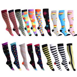 Branded Stock Clothes Wholesale Australia - 40styles Unisex Stocking floral Socks Men Women Sport elastic compression socks long tube running Outdoor Socks home clothing AAA1150