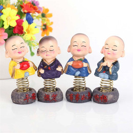 car cartoons NZ - 1 set Creative home Decoration Cute Cartoon Doll toy Shaking Head Doll Series ---- car interior decoration