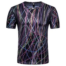 muscle men 3d t shirt 2019 - 2018 Slim 3D Print tshirts men t shirt Tops men's t shirts brand Muscle Short Sleeve Tees Blouse Plus Size Clothing