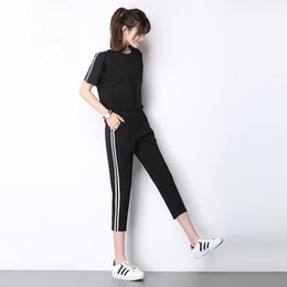 Wholesale Women s Suit Sport Top Sportswear Suit Female Spring And Summer Tide Korean Version Of Loose Running Two Sets Women s S XXL