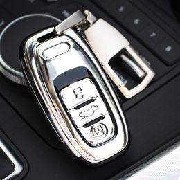 $enCountryForm.capitalKeyWord Australia - Audi ABS Car Key Shell Holder Case Cover Keyring Key Buckle For Audi A4 B8 B6 B7 A4L A5 A6 A6L A7 A8 Q5 R8 TT S5 S6 S7 S8 SQ5