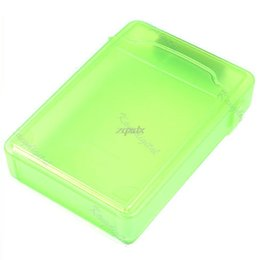Discount sata hdd storage - Dampproof Dustproof Shockproof and Static-free 3.5 Inch IDE SATA Hard Drive HDD Store Storage Box Green Z09 Drop ship