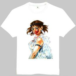 $enCountryForm.capitalKeyWord Canada - Princess Mononoke t shirt Mononoke Hime short sleeve gown Cartoon tees Leisure printing clothing Quality cotton Tshirt