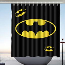 custom batman logo waterproof bathroom shower curtain polyester fabric shower curtain size 66 x 72 - Batman Bathroom