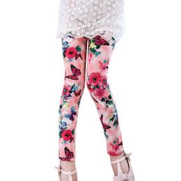 $enCountryForm.capitalKeyWord UK - Kids Children Girl Leggings Milk Silk Printing Flower Pants Girls Legging Spring Autumn Cotton Babys Girl Pants 3-12 Year