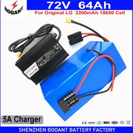 Discount lg li ion batteries - BOOANT EU US Free customs Use Original LG 18650 cell 72V 64AH 4000W Electric Bicycle Li-ion Battery With 5A 84V Charger