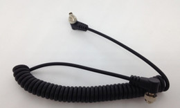 Wholesale Male PC to Male PC Sync Coiled Cable Cord cm with Screw Lock for DSLR Cameras Flash Trigger